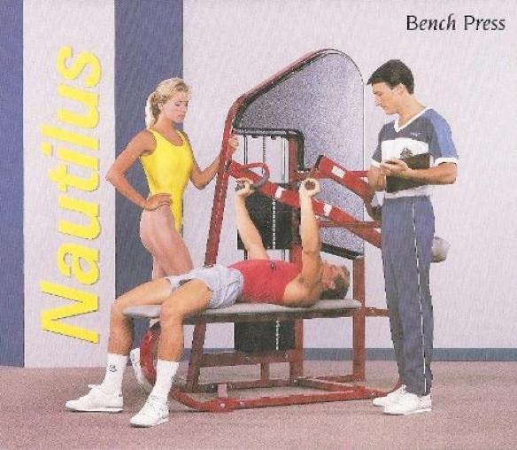 Nautilus Bench Press III 76x55x79 730lbs.