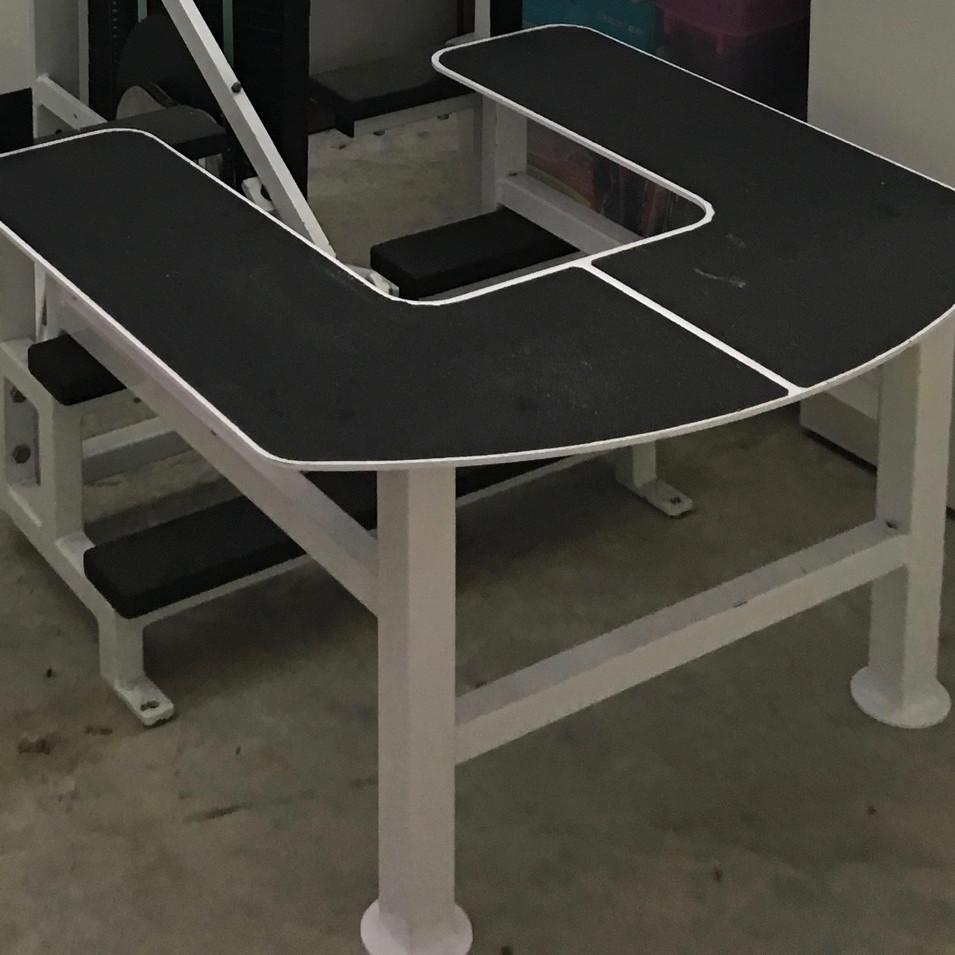 Custom made steel platform