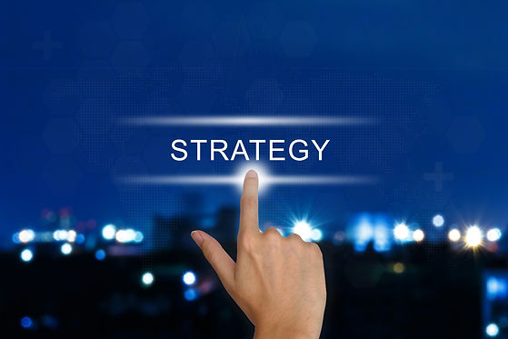Hand Pushing Strategy Button On Touch Sc
