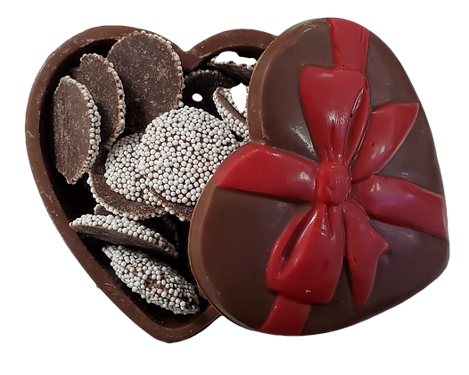 Chocolate Heart Box filled with Nonpareils