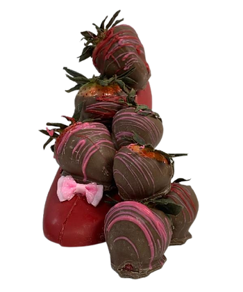 High Heel Shoe filled with Chocolate Covered Strawberries