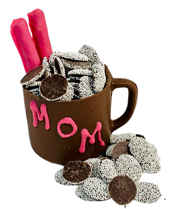 Chocolate Mug filled with Nonpareils