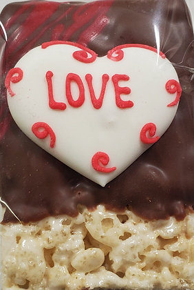 Rice Krispy Treat - Heart Love
