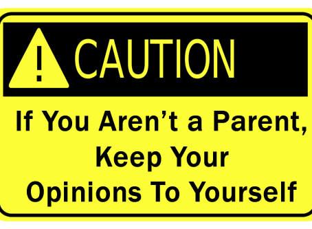 GTFOH: 10 Reasons Why People with NO Kids Should STFU about Parenting