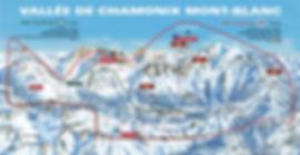 Chamonix Mt-Blanc Ski Map