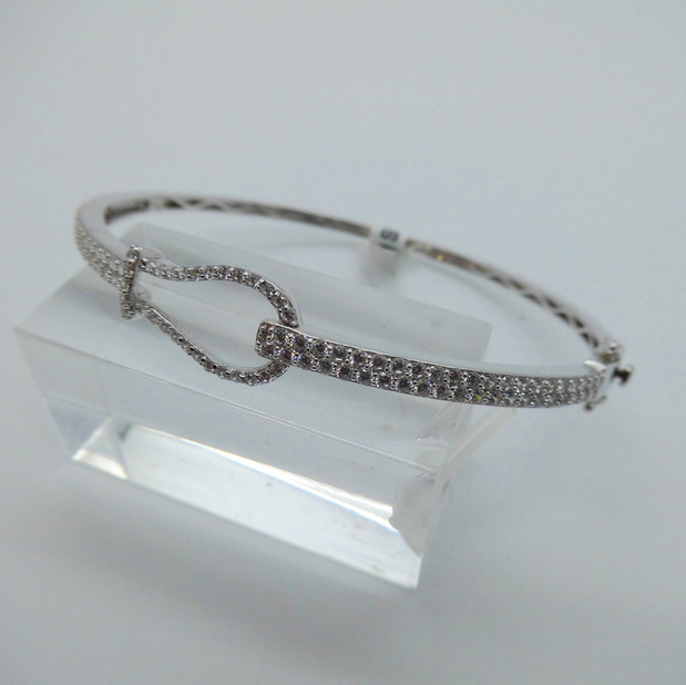 Silver and CZ Bangle £89.95