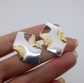 Silver Abstract Studs £29.95 SOLD