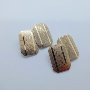 Yellow gold and silver cufflinks £39.95