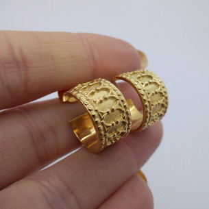 18ct Yellow Gold Hoops £895.00