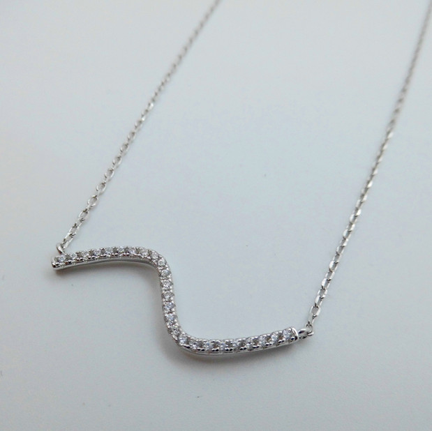 Silver and CZ Necklet £59.95