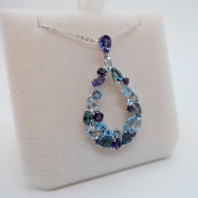 SOLD Blue Topaz and Iolite Pendant £475.00