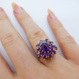 Amethyst cluster ring £175.00