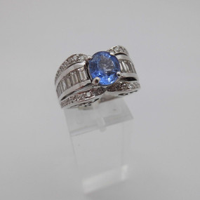Sapphire and Diamond ring £2500.00 SOLD