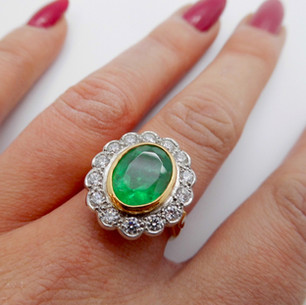 Emerald and Diamond Ring £3450.00
