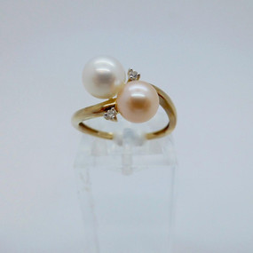 Pearl and Diamond ring  £375.00
