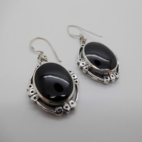 Silver and Onyx Drops £29.95 SOLD
