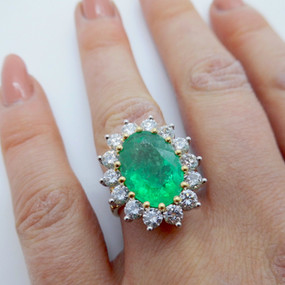 Emerald and Diamond Ring £8250.00