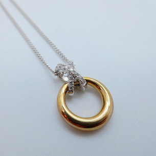 Yellow Gold and Diamond Hoop Necklet £432.95  SOLD