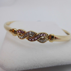 Ruby and CZ bangle £380.00