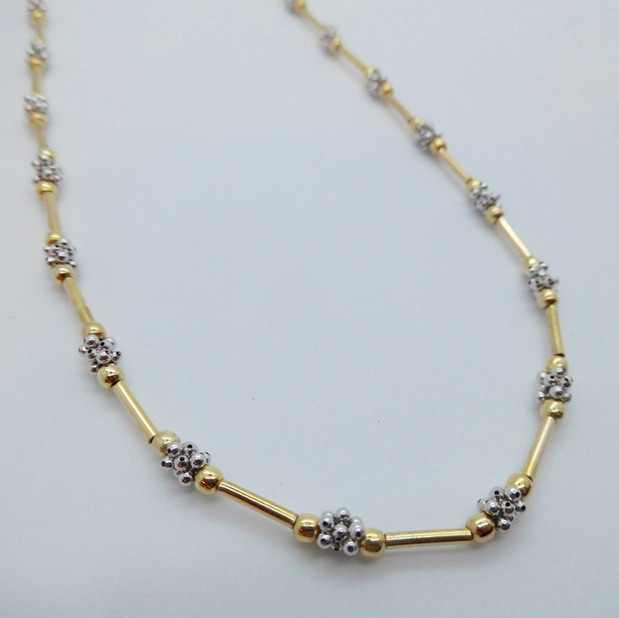 White and Yellow Gold Necklet £295.00