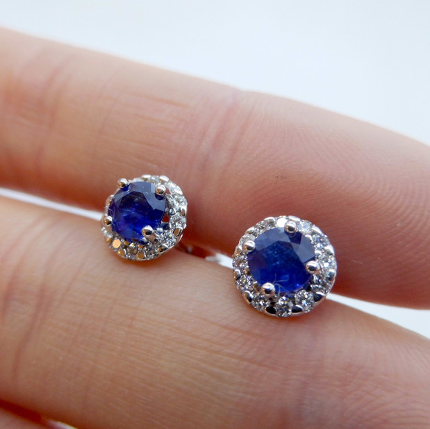 Sapphire and Diamond Earrings £750.00