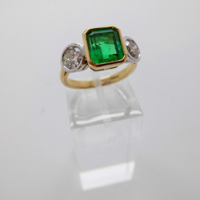 Emerald and Diamond Ring £4950.00