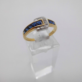 Sapphire and Diamond ring £390.00 SOLD