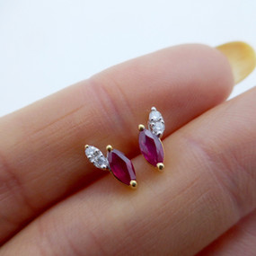 Ruby and Diamond Earrings £225.00 SOLD