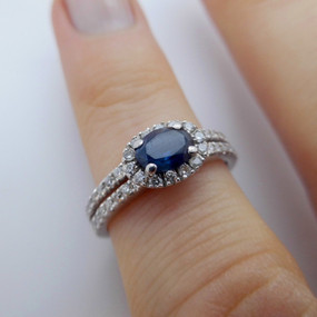 Sapphire and Diamond Ring £425.00 SOLD