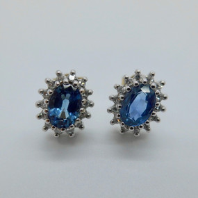 Sapphire and Diamond Clusters £395.00 SOLD