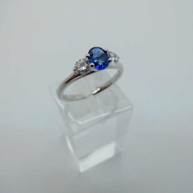 Sapphire and Diamond three stone Ring £650.00