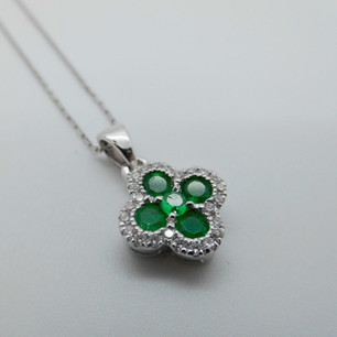 Emerald and Diamond Pendant £776.95