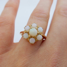 Opal Cluster Ring £165.00 SOLD