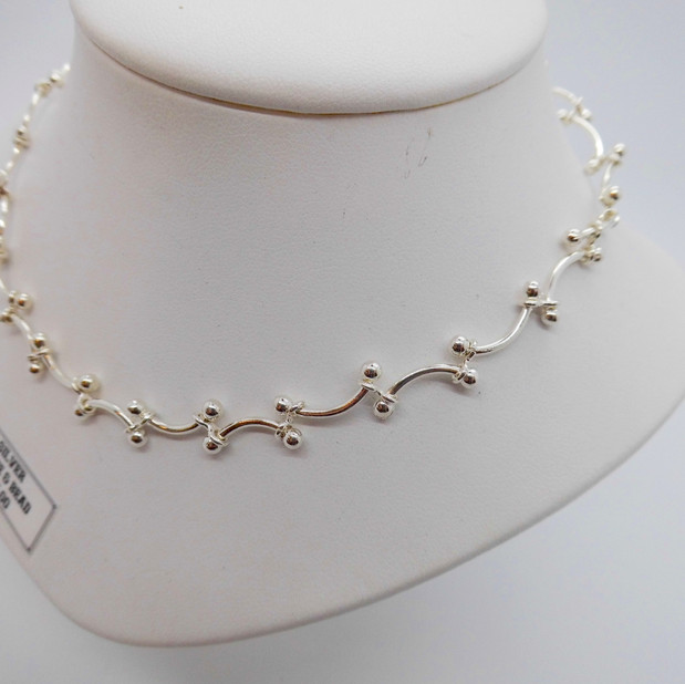 Wave and Bead Necklet £95.00