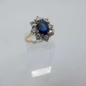 Sapphire and Diamond Cluster Ring £2200.00