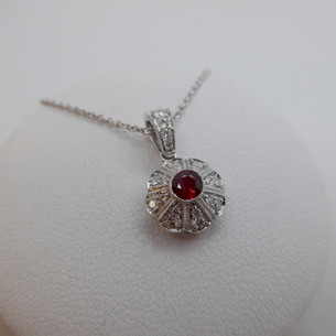 Ruby and Diamond Necklet  £850.00
