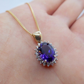 Amethyst and Diamond Necklet £314.95 SOLD