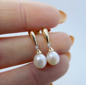 Pearl and Diamond Earrings £175.00 SOLD