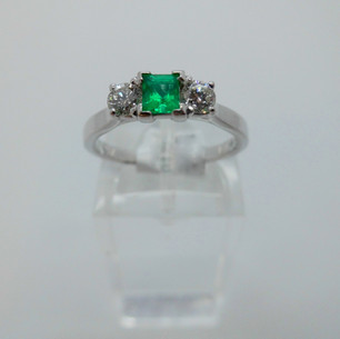 Emerald and Diamond Ring £1350.00 SOLD