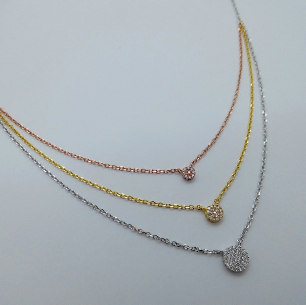 Three Colour Vermeil Necklet £64.95