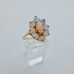 Opal Cluster Ring £145.00 SOLD
