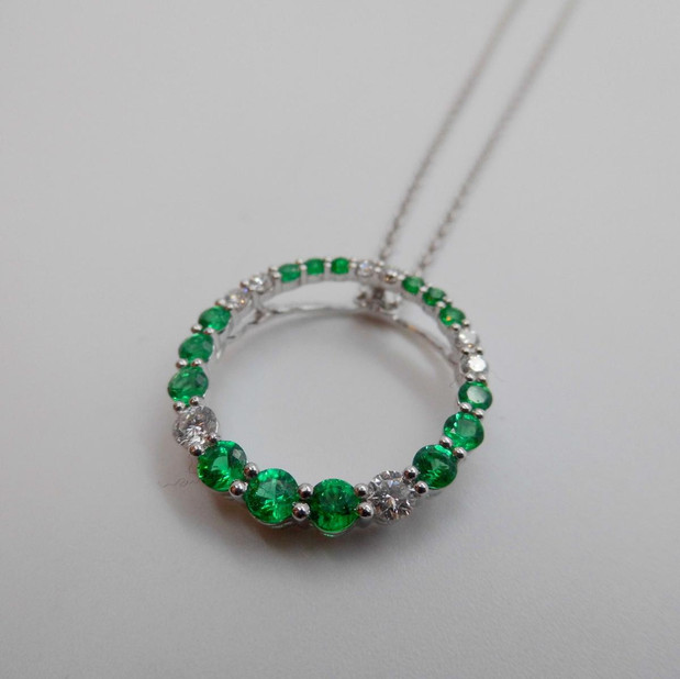 Emerald and Diamond Pendant  £2215.00