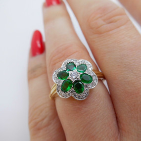 Emerand and diamond ring £1075.00