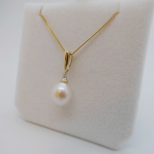 Pearl and Diamond Pendant £199.95