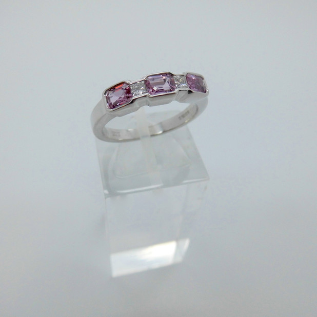 Pink Sapphire and Diamond Ring £550.00 SOLD