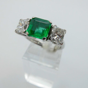 Three Stone Emerald and Diamond Ring £14,500.00