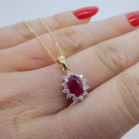 Ruby and Diamond Pendant £525.00