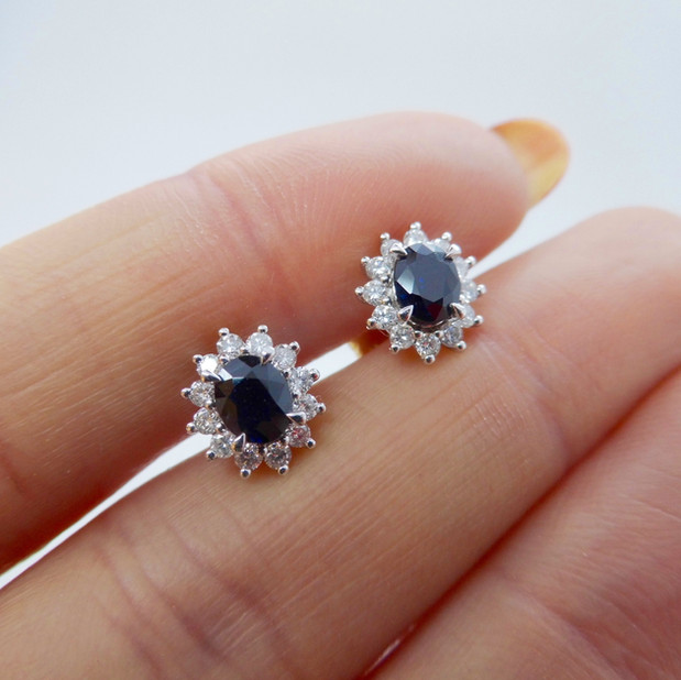 Sapphire and Diamond earrings £595.00