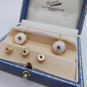 Mother of Pearl and Ruby Cufflinks £395.00 SOLD