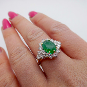 Emerald and Diamond Ring £3350.00